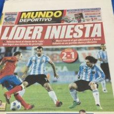 Coleccionismo deportivo: SPORT-15/11/2009. ESPAÑA,2-ARGENTINA,1. Lote 101073598