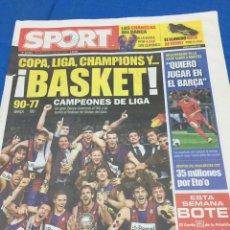 Coleccionismo deportivo: SPORT-19/06/2009.. Lote 101076218