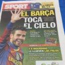 Coleccionismo deportivo: SPORT-1/12/2010. CON PÓSTER DEL 5-0. Lote 101076438