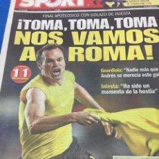 Coleccionismo deportivo: SPORT-7/05/2009.CHAMPIONS.CHELSEA,1-BARCELONA,1. Lote 101076580