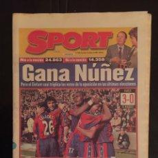 Coleccionismo deportivo: SPORT-6595-8/03/1998. BARCELONA,3-R.MADRID,0. Lote 101584579