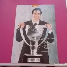 Coleccionismo deportivo: POSTER DE SPORT/ CAMPEONES / CAMPIONS LIGA 97/98/ JUAN ANTONIO PIZZI. Lote 101894471