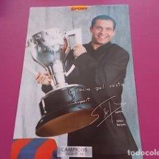 Coleccionismo deportivo: POSTER DE SPORT/ CAMPEONES / CAMPIONS LIGA 97/98/ SERGI BARJUAN . Lote 101895575
