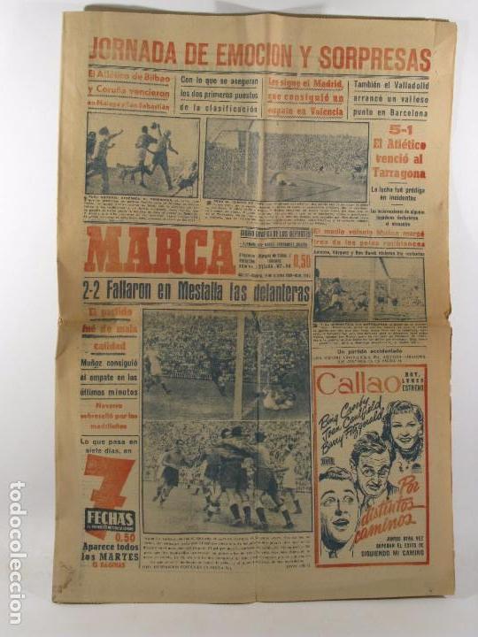 PERIODICO MARCA 1949 , MESTALLA VALENCIA, MOTOR IRESA (Coleccionismo Deportivo - Revistas y Periódicos - Marca)