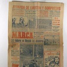 Coleccionismo deportivo: PERIODICO MARCA 1949 , MESTALLA VALENCIA, MOTOR IRESA. Lote 102109691