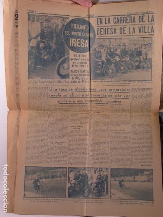 Coleccionismo deportivo: PERIODICO MARCA 1949 , MESTALLA VALENCIA, MOTOR IRESA - Foto 2 - 102109691