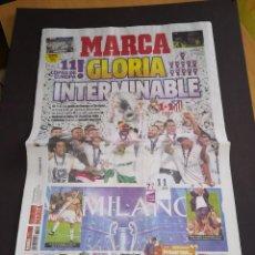 Coleccionismo deportivo: DIARIO MARCA FINAL CHAMPIONS MILAN ATLETICO MADRID REAL MADRID 29 MAYO 2016 NUEVO. Lote 102240363