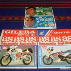 Coleccionismo deportivo: 16 PEGATINA ADHESIVO AS TOP AUTO TOP MOTO. SITO PONS, EVA RUEDA, HONDA, GILERA SP 01. SIN USO.. Lote 102578647