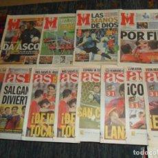 Coleccionismo deportivo: MUNDIAL KOREA Y JAPÓN 2002. LOTE 12 DIARIOS AS Y MARCA CON LA TRAYECTORIA DE LA SELECCIÓN ESPAÑOLA.. Lote 102599031