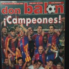 Coleccionismo deportivo: DON BALÓN-1175. CAMPEONES!!.SEMIFINAL CHAMPIONS. R. MADRID,0-BORUSSIA,0. Lote 102756291