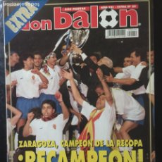 Coleccionismo deportivo: DON BALÓN-EXTRA 29. R.ZARAGOZA CAMPEÓN RECOPA. CON PÓSTER. Lote 102758340