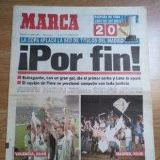 Coleccionismo deportivo: DIARIO MARCA REAL MADRID CAMPEON COPA DEL REY 27 JUNIO 1993. Lote 102835839