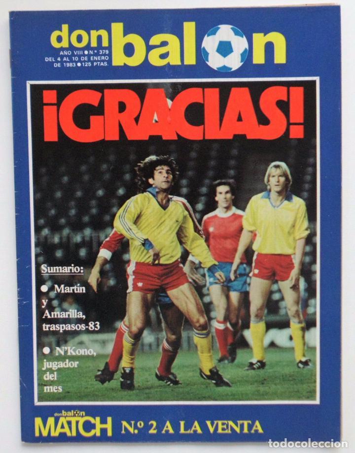 REVISTA DON BALON Nº 379 DEL 4 AL 10 DE ENERO DE 1983 PLANTILLA DEL AT.MADRID (Coleccionismo Deportivo - Revistas y Periódicos - Don Balón)