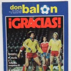 Coleccionismo deportivo: REVISTA DON BALON Nº 379 DEL 4 AL 10 DE ENERO DE 1983 PLANTILLA DEL AT.MADRID. Lote 103032343