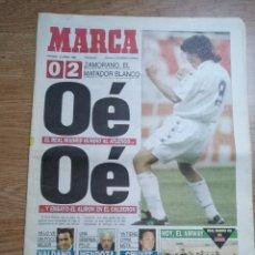 Coleccionismo deportivo: DIARIO MARCA - 16 ABRIL 1995- ZAMORANO, EL MATADOR BLANCO OÉ OÉ ENSAYO ALIRON REAL MADRID. Lote 103083155