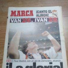 Coleccionismo deportivo: DIARIO MARCA -4 JUNIO 1995 CAMPEON DE LIGA 94/95 Nº 26 REAL MADRID ALIRON - LA GLORIA!. Lote 103140027