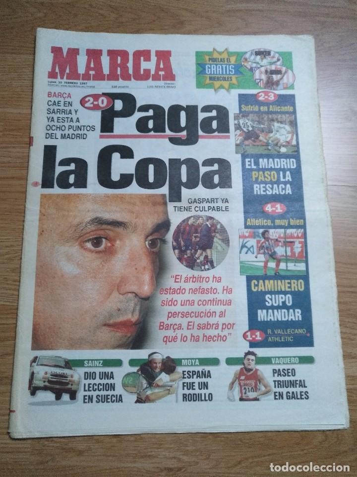 DIARIO MARCA 10 FEBRERO 1997 BARÇA CAE 2-0 PAGA LA COPA -CARLOS SAINZ - MOYA (Coleccionismo Deportivo - Revistas y Periódicos - Marca)