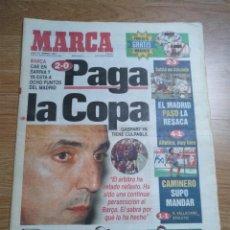 Coleccionismo deportivo: DIARIO MARCA 10 FEBRERO 1997 BARÇA CAE 2-0 PAGA LA COPA -CARLOS SAINZ - MOYA . Lote 103151095