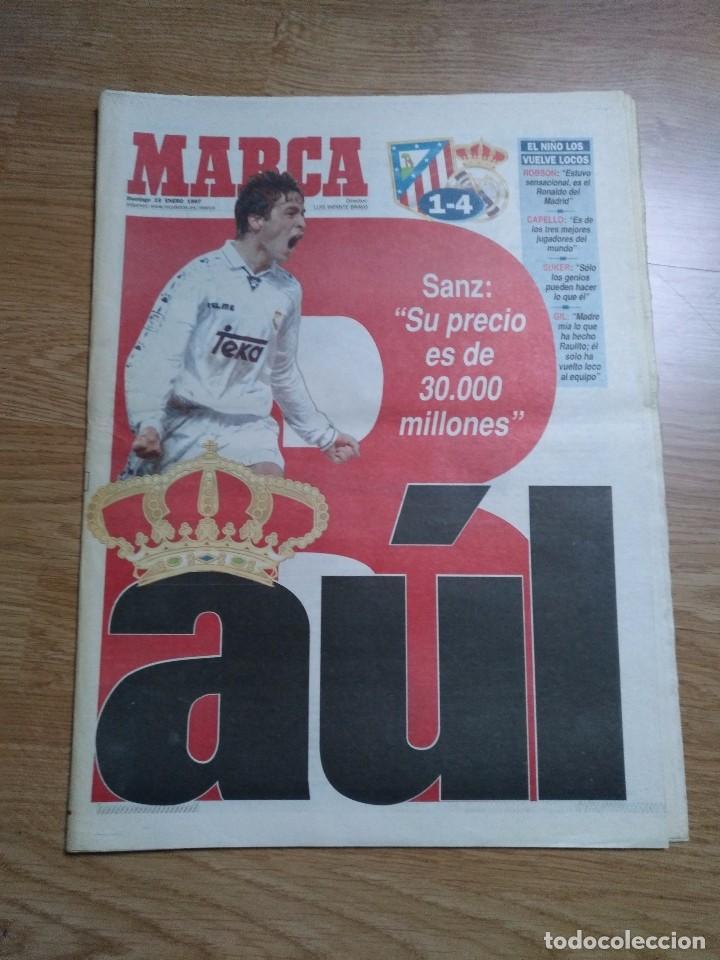 DIARIO MARCA 19 ENERO 1997 PORTADA RAUL DE FRENTE 1-4 ATLETCO - REAL MADRID - CARLOS SAINZ (Coleccionismo Deportivo - Revistas y Periódicos - Marca)
