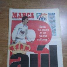 Coleccionismo deportivo: DIARIO MARCA 19 ENERO 1997 PORTADA RAUL DE FRENTE 1-4 ATLETCO - REAL MADRID - CARLOS SAINZ. Lote 103155307