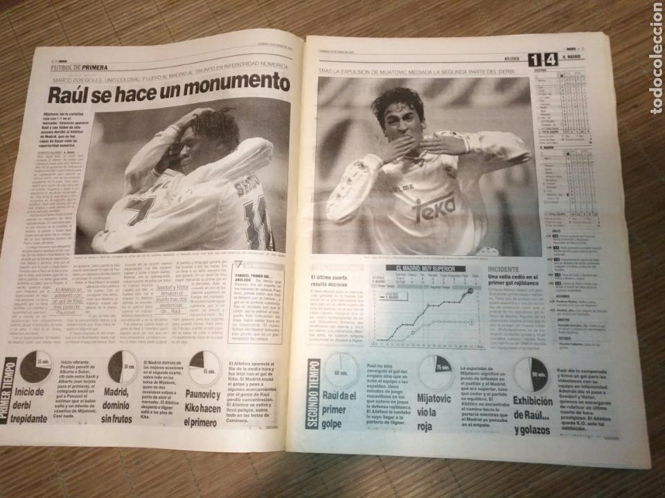Coleccionismo deportivo: DIARIO MARCA 19 ENERO 1997 PORTADA RAUL DE FRENTE 1-4 ATLETCO - REAL MADRID - CARLOS SAINZ - Foto 3 - 103155307