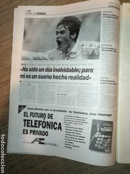 Coleccionismo deportivo: DIARIO MARCA 19 ENERO 1997 PORTADA RAUL DE FRENTE 1-4 ATLETCO - REAL MADRID - CARLOS SAINZ - Foto 5 - 103155307