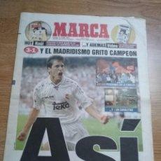 Coleccionismo deportivo: DIARIO MARCA 15 JUNIO 1997 REAL MADRID Nº 27 CAMPEON DE LIGA 1996/1997-RAUL GONZALEZ. Lote 103158335