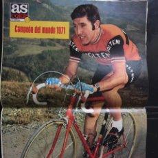 Coleccionismo deportivo: AS-27-23/11/1971. POSTER EDDY MERCKX. Lote 103257830