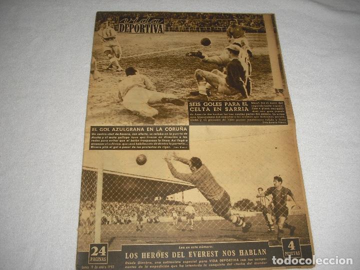 VIDA DEPORTIVA N° 384 . 1953 (Coleccionismo Deportivo - Revistas y Periódicos - Vida Deportiva)