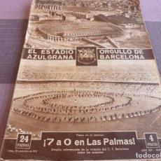 Coleccionismo deportivo: (E)VIDA DEPORTIVA Nº:628(30-9-57)!!!GRAN INAUGURACIÓN CAMP NOU !!!BARÇA,BURNLEY,FLAMENGO Y VARSOVIA.. Lote 111053066