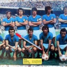 Coleccionismo deportivo: POSTER Nº253 AS COLOR. REAL OVIEDO - LIGA 1975-1976 75/76. ALINEACION. FÚTBOL VINTAGE. . Lote 103333607