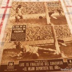 Coleccionismo deportivo: (E)VIDA DEPORTIVA Nº:694(5-1-59)PIRELLI,SEAT 600,VALENCIA 1 BARÇA 2,R.MADRID COPA EUROPA BASKET. Lote 103413435