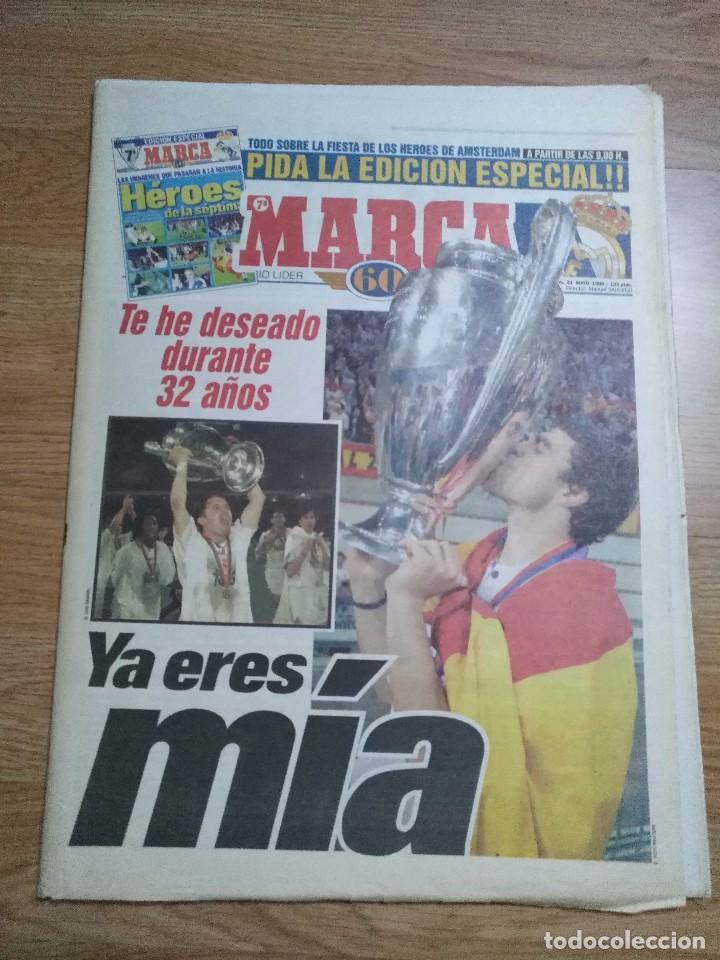 Coleccionismo deportivo: DIARIO MARCA 21 MAYO 1998 + EDICION ESPECIAL REAL MADRID 7ª COPA EUROPA - Foto 4 - 113205203