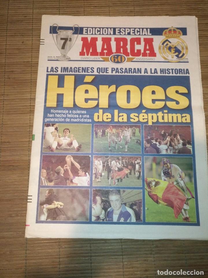 Coleccionismo deportivo: DIARIO MARCA 21 MAYO 1998 + EDICION ESPECIAL REAL MADRID 7ª COPA EUROPA - Foto 5 - 113205203