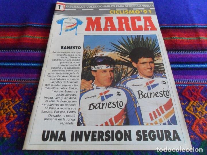 MARCA CICLISMO 91 Nº 1 COLECCIONABLES PARA SEGUIR LA VUELTA CICLISTA A ESPAÑA. REGALO BARAJA ASES!!! (Coleccionismo Deportivo - Revistas y Periódicos - Marca)