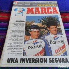 Coleccionismo deportivo: MARCA CICLISMO 91 Nº 1 COLECCIONABLES PARA SEGUIR LA VUELTA CICLISTA A ESPAÑA. REGALO BARAJA ASES!!!. Lote 103754255