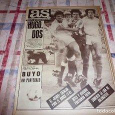 Coleccionismo deportivo: AS(24-9-84)HUGO SANCHEZ,BUYO PORTERAZO POR SU CULPA PIERDE EL R.MADRID!!!BARÇA 1 ESPAÑOL 0.ARCONADA. Lote 103780119