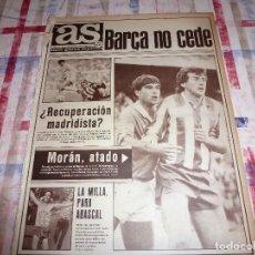 Coleccionismo deportivo: AS(8-10-84)VALENCIA-R.SOCIEDAD,ARCONADA,BILBAO-R.MADRID,AT.MADRID-MURCIA.ABASCAL GANA MILLA.. Lote 103780567