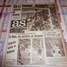 Coleccionismo deportivo: AS(24-12-84)BARÇA 2 RACING 0 !!CAMPEONES DE INVIERNO !!!AT.MADRID 1 ELCHE 0,FILLOL(ARGENTINA). Lote 103782771