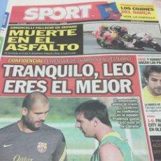 Coleccionismo deportivo: SPORT.24/10/2011. MUERTE DE SIMONCELLI. Lote 103785318