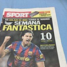 Coleccionismo deportivo: SPORT.30/11/2008. BARCELONA,1-R.MADRID,0. Lote 103787127