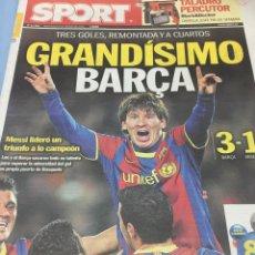 Coleccionismo deportivo: SPORT.9/3/2011. BARCELONA,3-ARSENAL,1. Lote 103787644