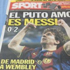 Coleccionismo deportivo: SPORT.28/4/2011. EL PUTO AMO ES MESSI.MADRID,0-BARCA,2. Lote 103787871