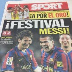 Coleccionismo deportivo: SPORT.20/9/2009. FESTIVAL MESSI! BARCELONA,5-AT.MADRID,2. Lote 103802567
