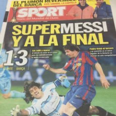 Coleccionismo deportivo: SPORT.17/12/2009. SUPERMESSI Y A LA FINAL. ATLANTE,1-BARCELONA,3. Lote 103802623