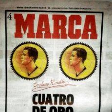 Coleccionismo deportivo: PERIÓDICO MARCA CRISTIANO RONALDO CUARTO BALÓN DE ORO. Lote 103804482