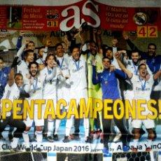 Coleccionismo deportivo: PERIÓDICO AS REAL MADRID CAMPEÓN MUNDO MUNDIAL CLUBS 2016. Lote 103805700