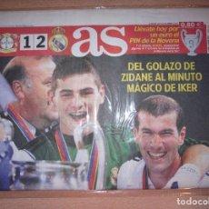 Coleccionismo deportivo: PERIODICO AS NUEVO REAL MADRID CAMPEON UEFA CHAMPIONS LEAGUE TEMPORADA 2001 2002 01 02. Lote 103983379