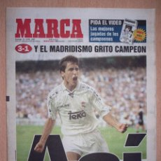 Coleccionismo deportivo: PERIODICO MARCA NUEVO REAL MADRID CAMPEON DE LIGA TEMPORADA 1996 1997 96 97. Lote 103984575