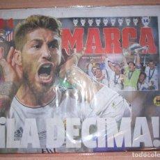 Coleccionismo deportivo: PERIODICO MARCA NUEVO REAL MADRID CAMPEON UEFA CHAMPIONS LEAGUE TEMPORADA 2013 2014 13 14. Lote 103985227